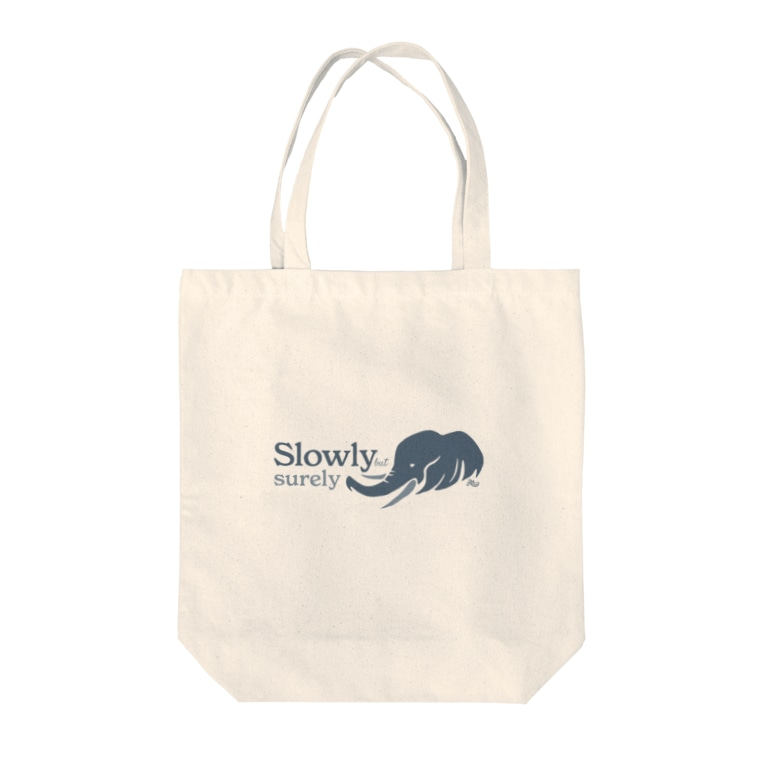 kocoonの着実に進むゾウ Tote bags