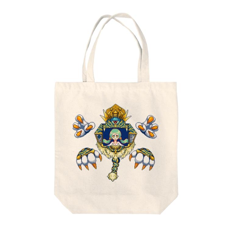TKAKURAKAZUKI_PRINTOUTの准胝観音 Tote bags