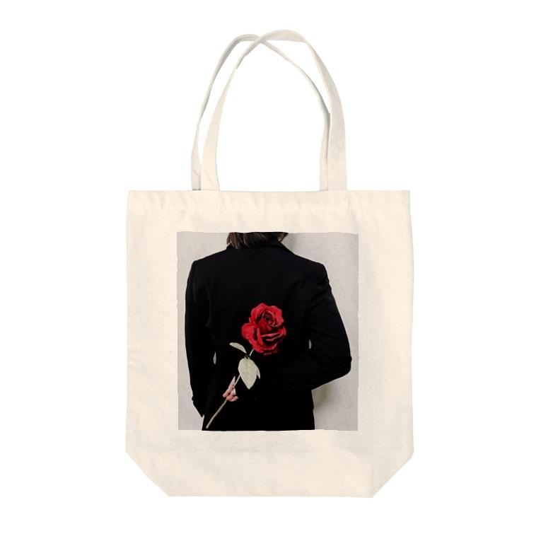 ᑦᑋ੨иPONYのチャンポニ 薔薇 Tote bags