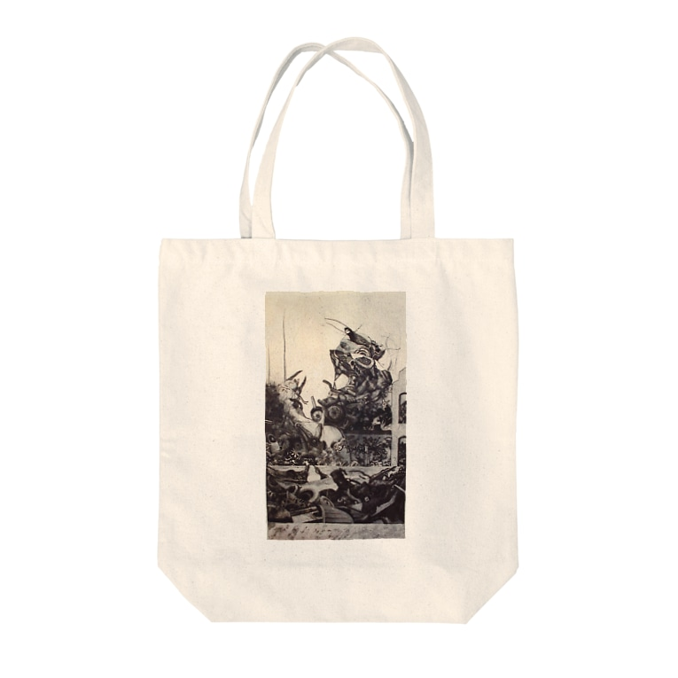 ここだけの銅版画SHOPの無機質からの生1 Tote bags