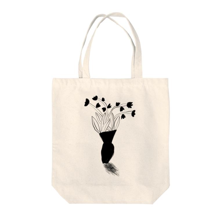 aki_ishibashiのお花のある生活 Tote bags