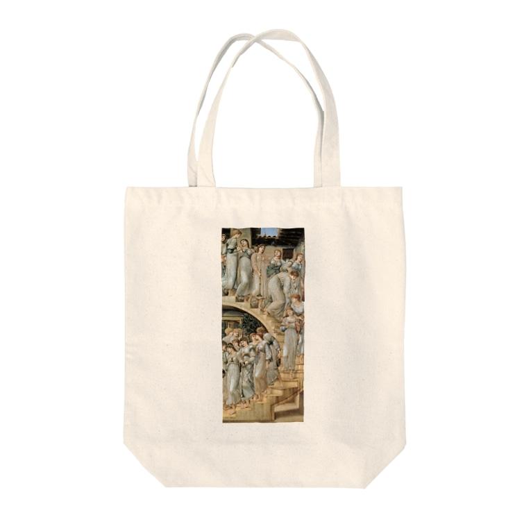 世界の絵画アートグッズのエドワード・バーン=ジョーンズ《黄金の階段》 Tote Bag