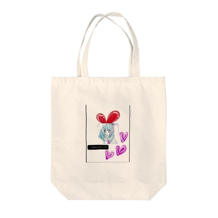 レモンかわいい女子♥️オリジナルショップのうさぎ♥️女子 Tote bags