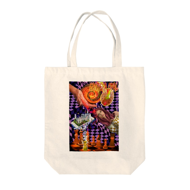 GECKO-SO-SINGのパワーストーン『カンテラオパール』 Tote bags