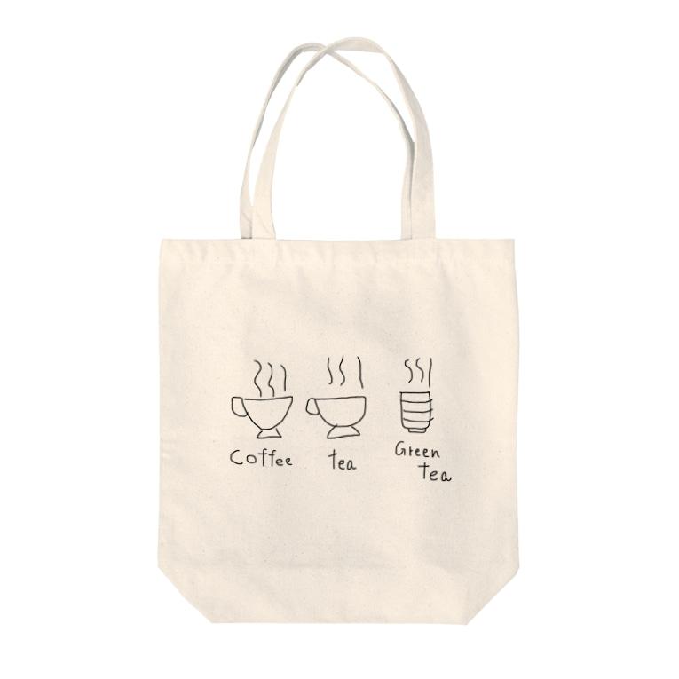 dasakuのcoffee tea Tote bags