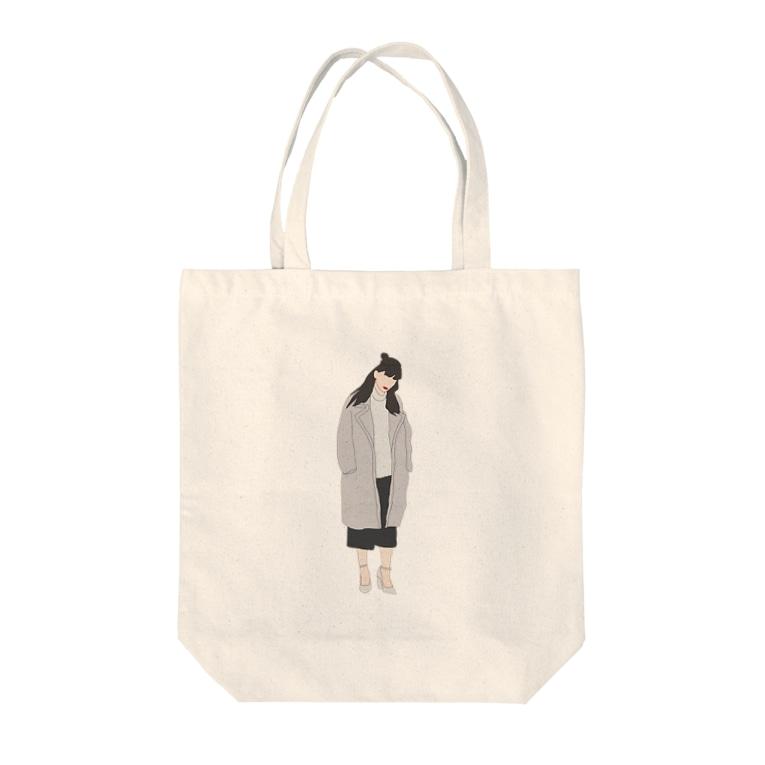 SAKUBERRYのおんなのこ Tote bags