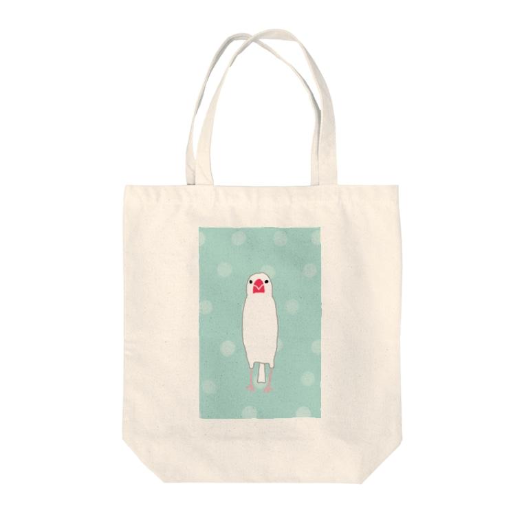 minatoriの文鳥さん(ドット1) Tote bags
