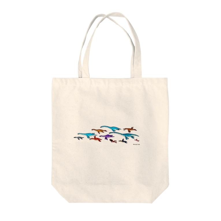 Atelier*LorschのPlesiosaur Tote bags