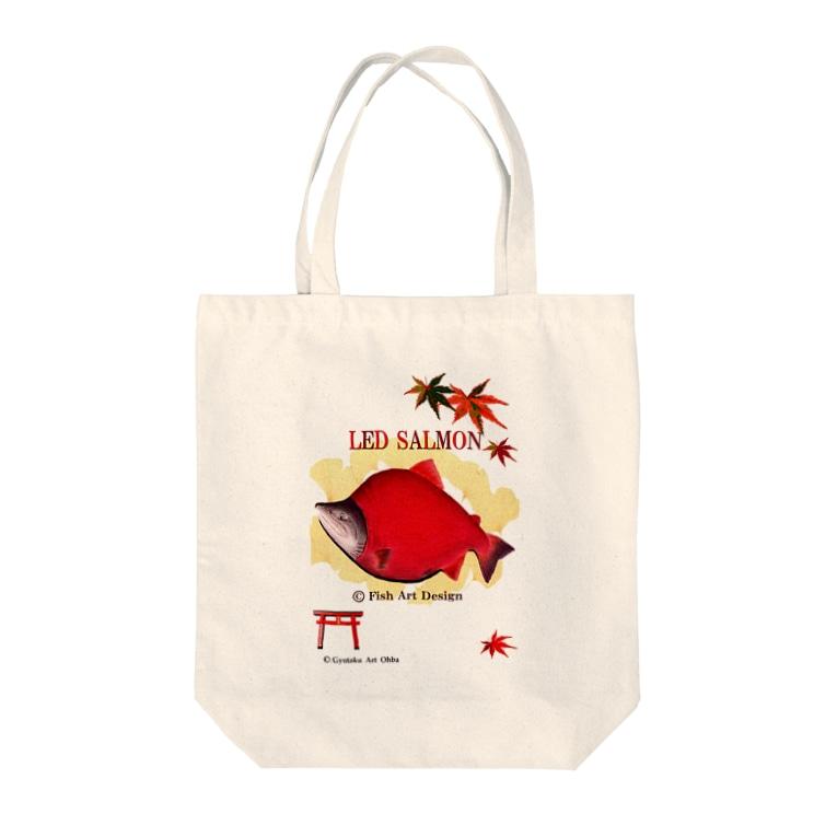 G-HERRING(鰊;鮭;公魚;鮎;SALMON)の紅鮭!(ベニザケ;RED SALMON) Tote bags