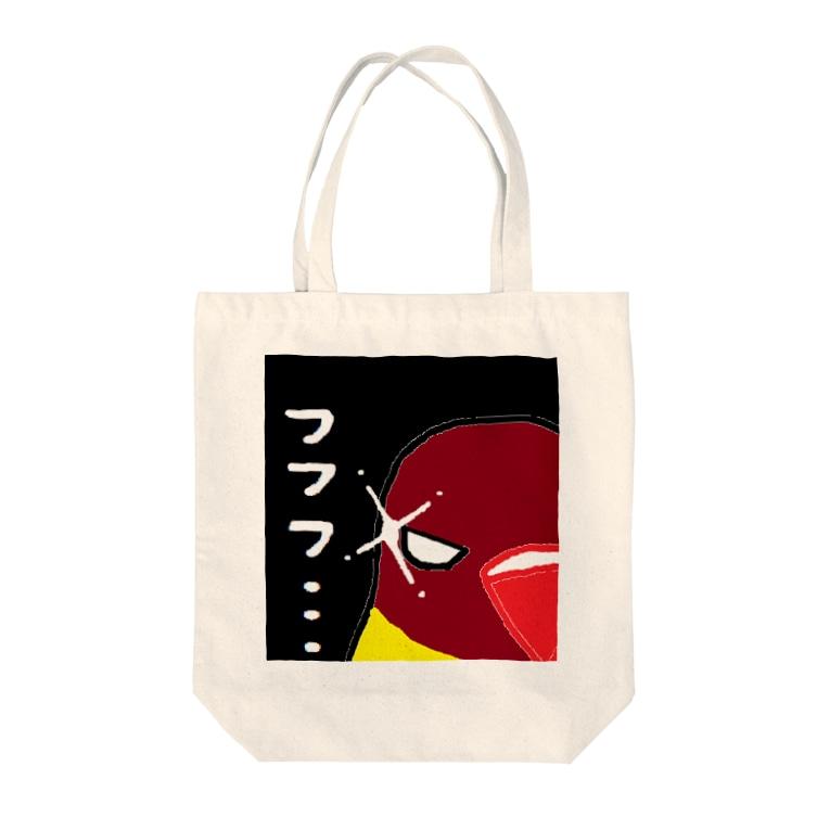 akink(アキンコ)のボタンインコのねらい Tote bags