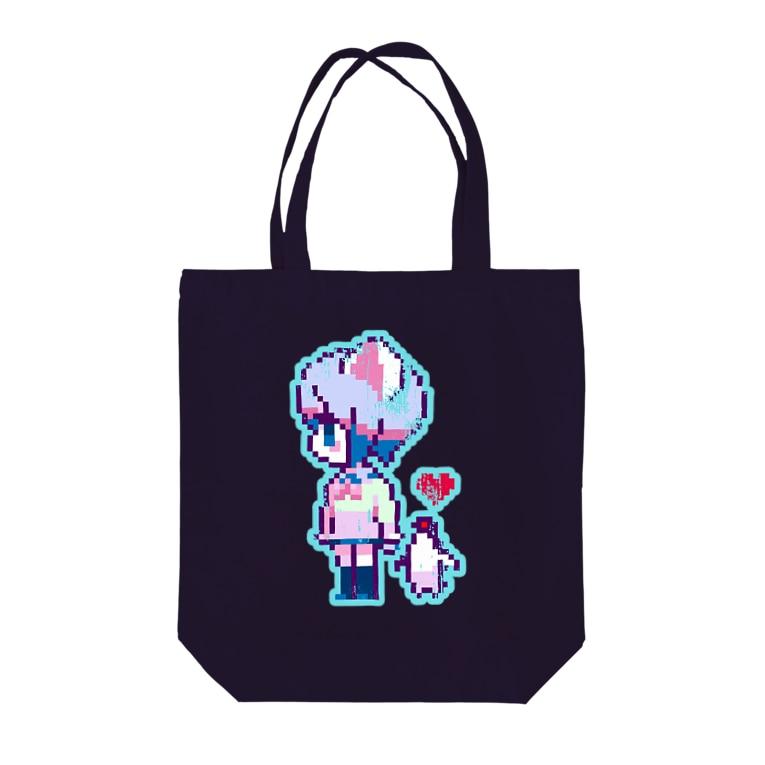 HEDZの巣 SUZURI店のねこJK と$u!ca Tote bags