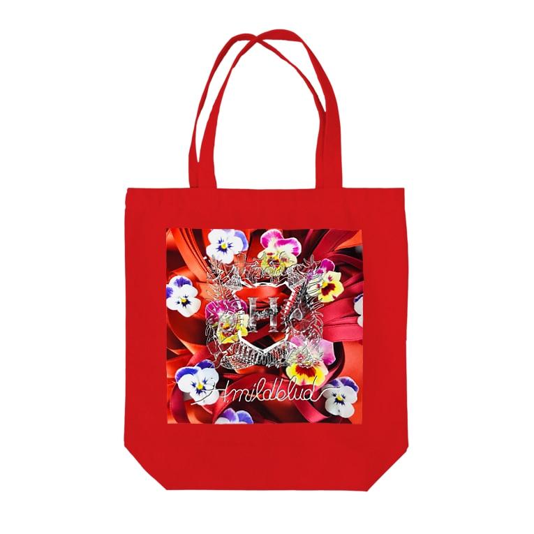 H.mildblud illustration STOREのリボンの赤毛 Tote bags