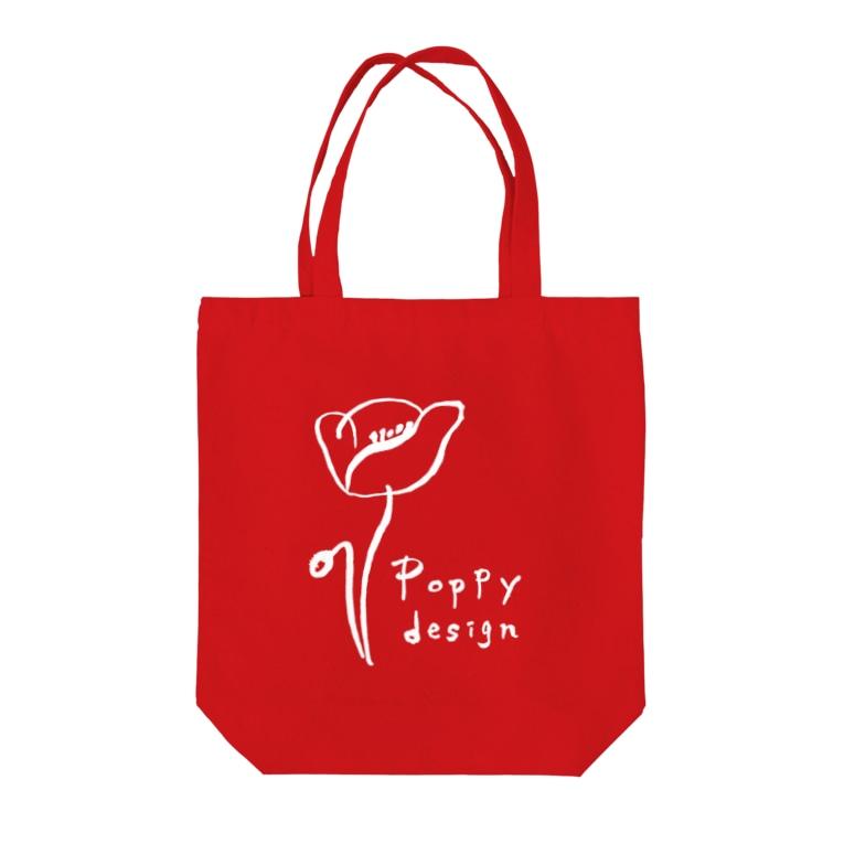 tee-Poppyのポピーデザイン Tote bags