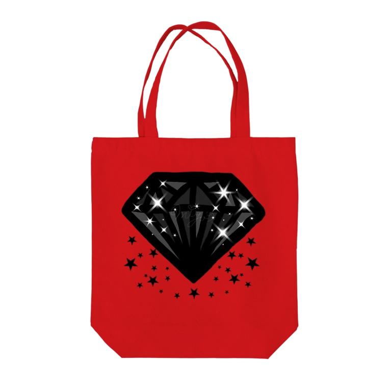 Miyuki_Sakagamiのぶらっくだいあもん(星) Tote bags