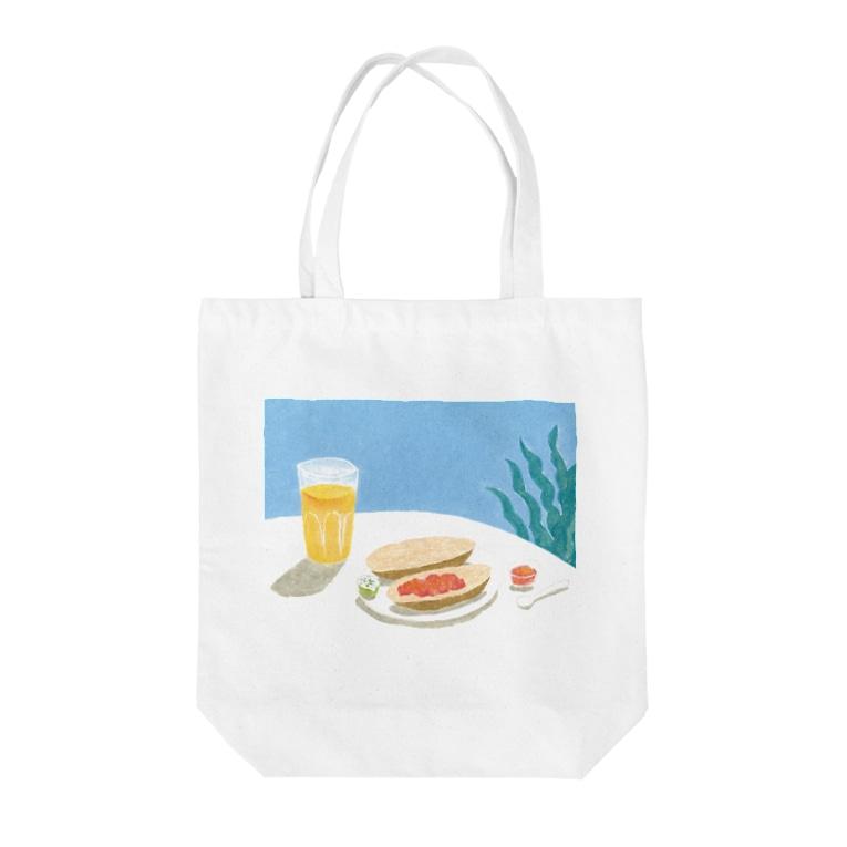 はしもとゆかのスペインの朝食 Tote bags
