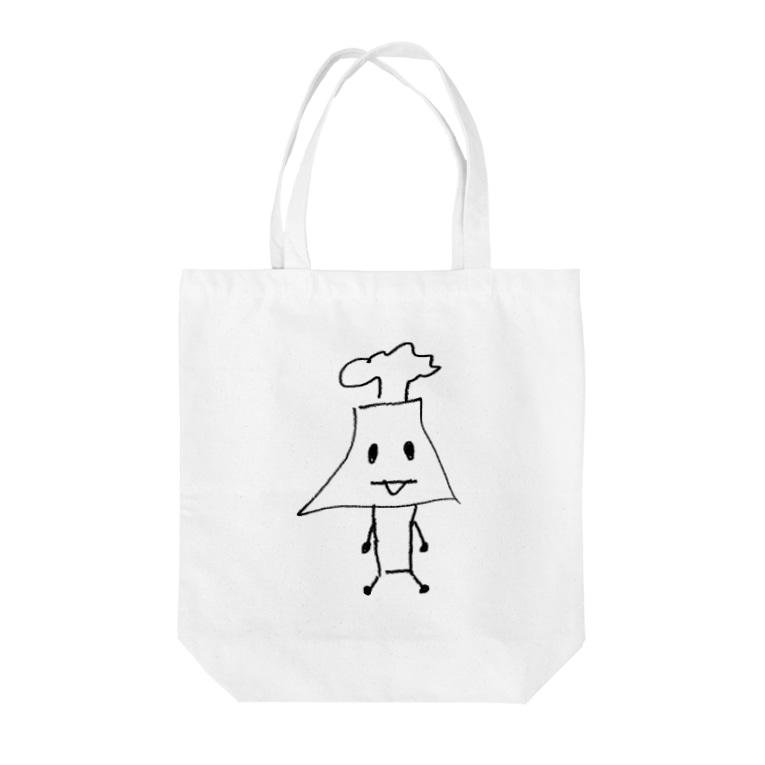 EZ-SHOOTの桜島さん Tote bags