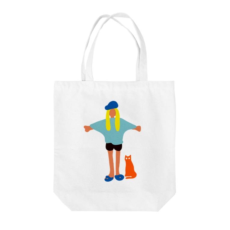 Earthlingの地球人(キャップ女子) Tote bags