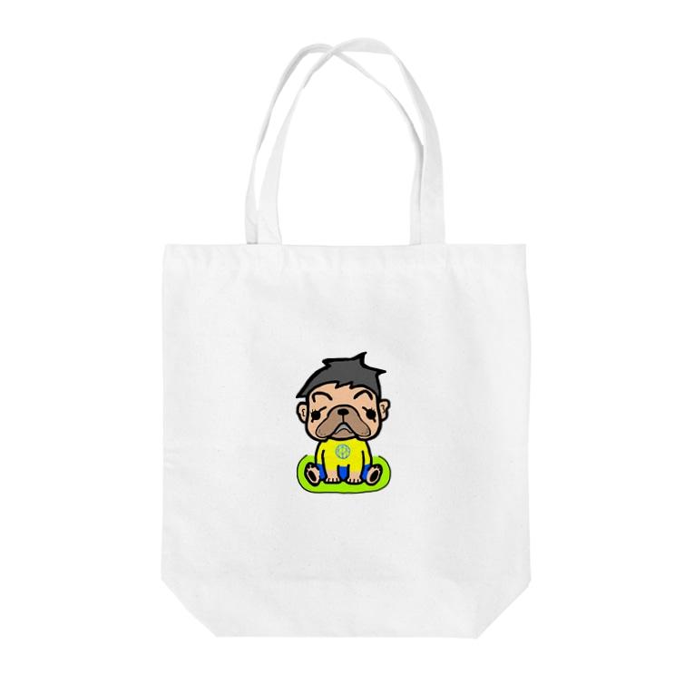 スポーツ家庭教師 【森 雅昭】の森くん Tote bags