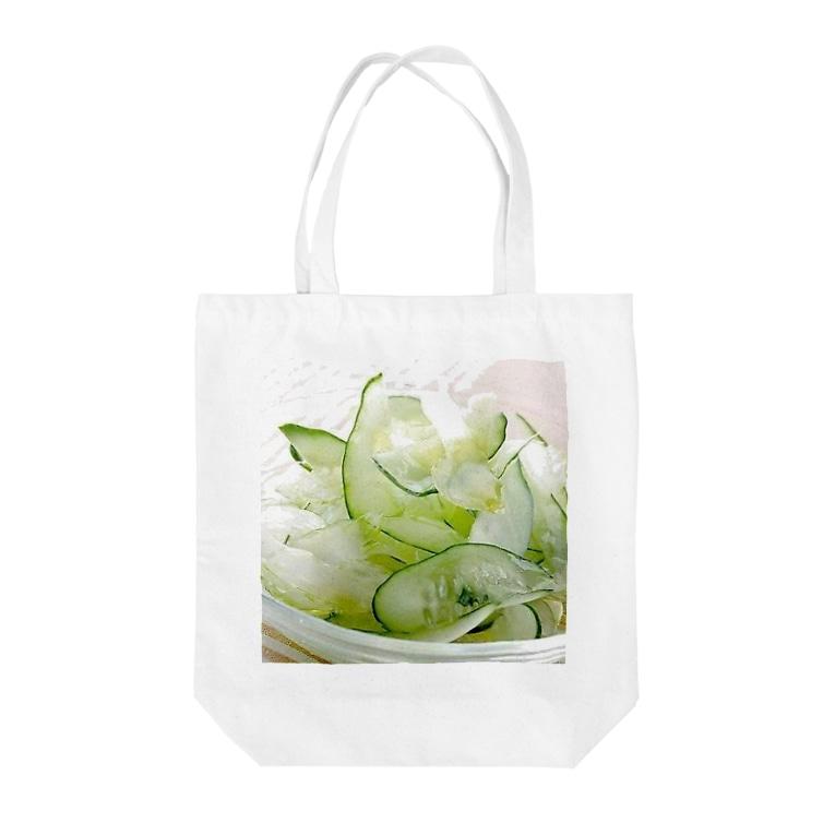星空青井の夏っぽいね!胡瓜とセロリのサラダだよ! Tote bags