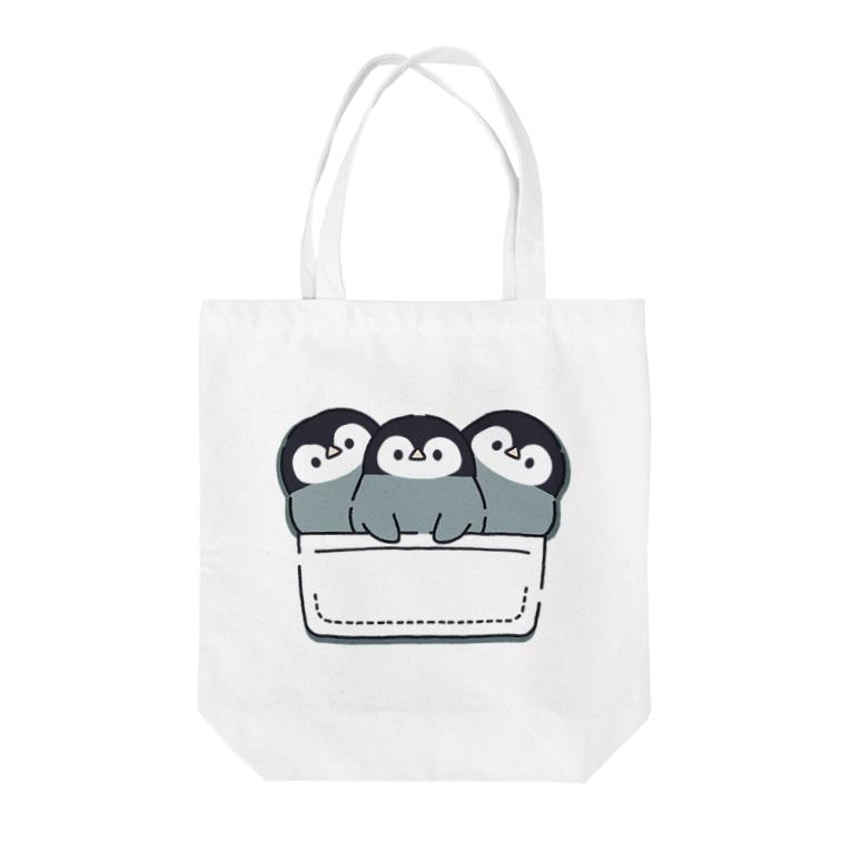 DECORの心くばりペンギン 一緒にお出かけVer. Tote bags