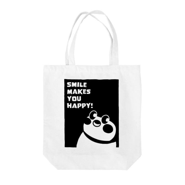 """""""すずめのおみせ"""" SUZURI店のSmile makes you happy Tote bags"""