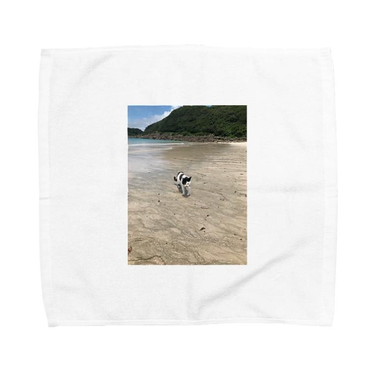 リボンネコの種子島ネコ Towel handkerchiefs