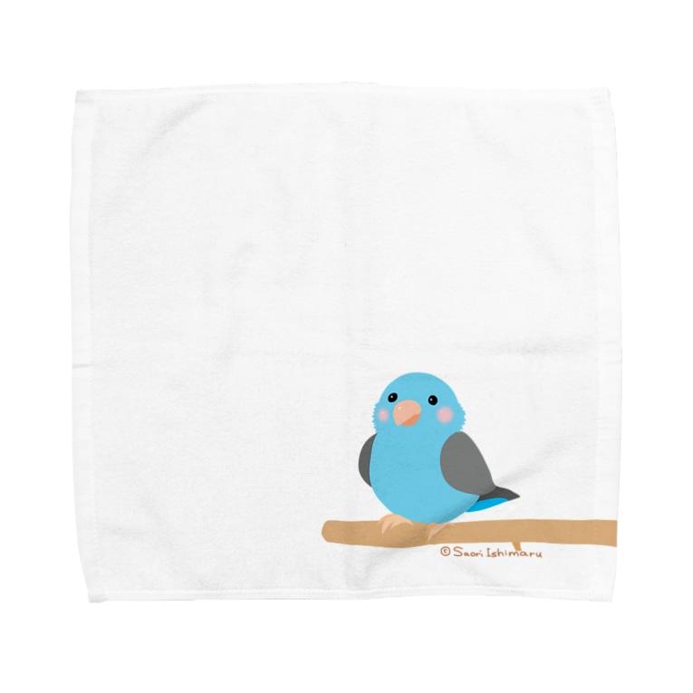 石丸沙織のポチャルリハインコ Towel handkerchiefs