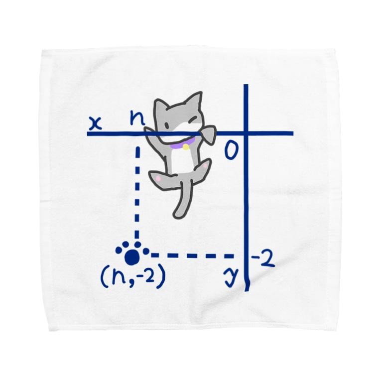 リコペマの第三象限からよじのぼるネコ Towel handkerchiefs