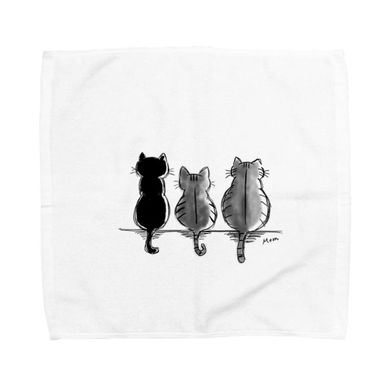 Moonの3にゃんず Towel handkerchiefs