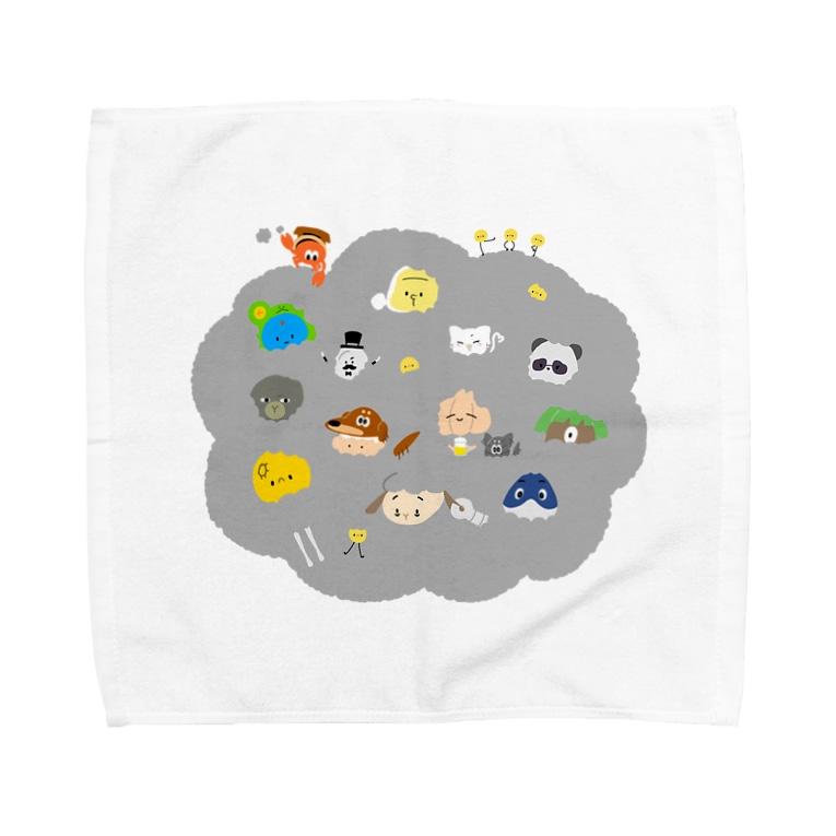 さらだふれんずのみんな集まれば あたたかい Towel handkerchiefs