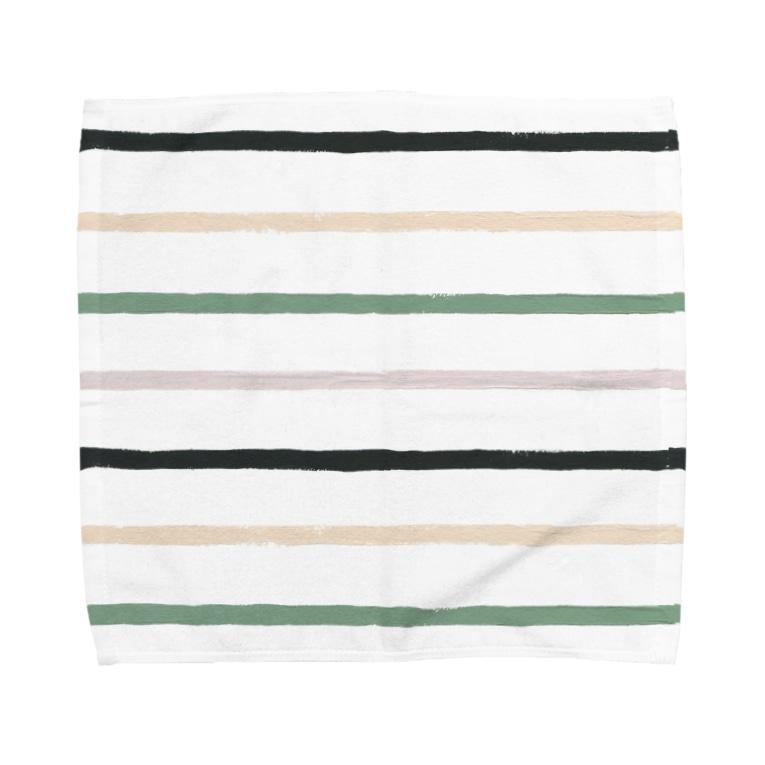 SANKAKU DESIGN STOREのノスタルジック横線。 Towel handkerchiefs