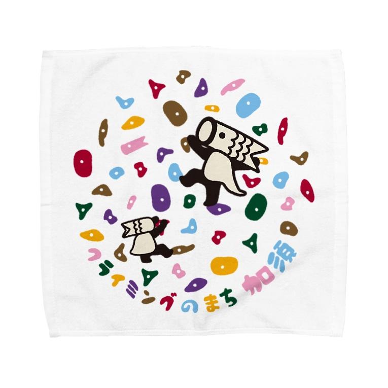 こいのぼりマン@加須市のこいのぼりマン_ボルダリング柄 Towel handkerchiefs