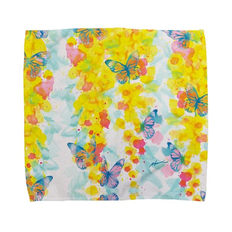 AKI ONLINE SHOP 色のある暮らしのゴールデンシャワーの片思い Towel handkerchiefs