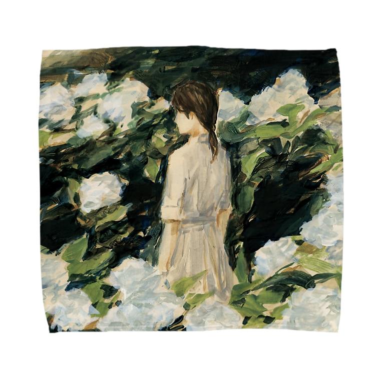 agoeraの移り気な白 Towel handkerchiefs