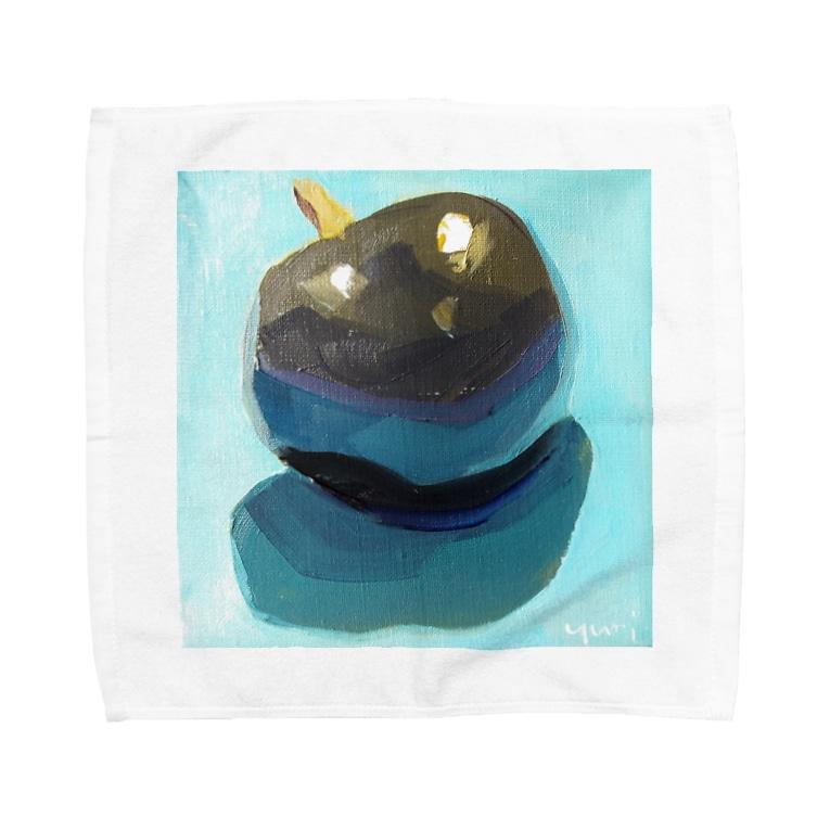 Yuri_Paintingのブラックプラム Towel handkerchiefs