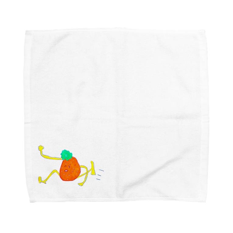 ちくちくびの走りがちミカン Towel handkerchiefs