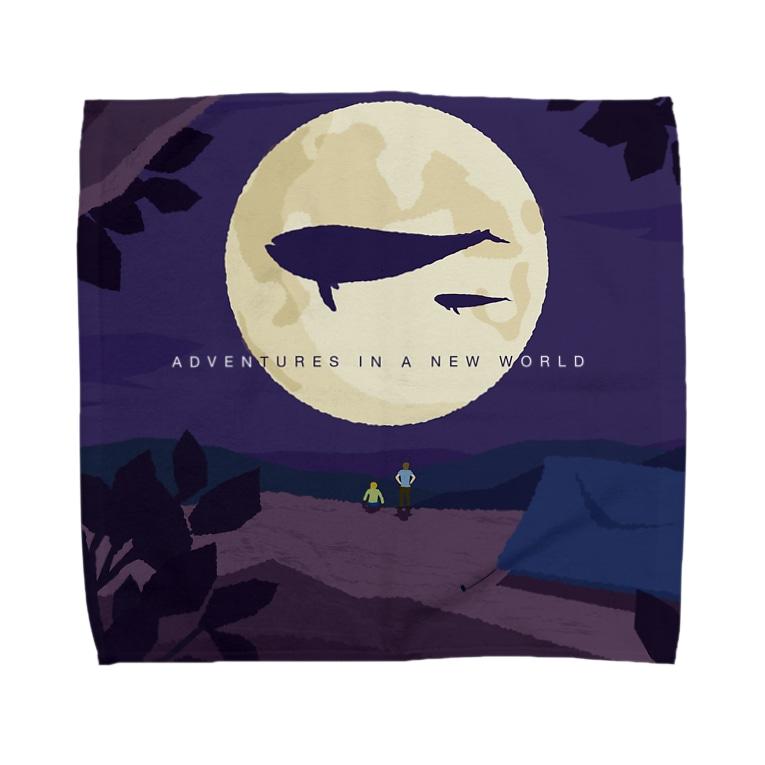 httrの空飛ぶクジラを見たら眠ろう。 Towel handkerchiefs