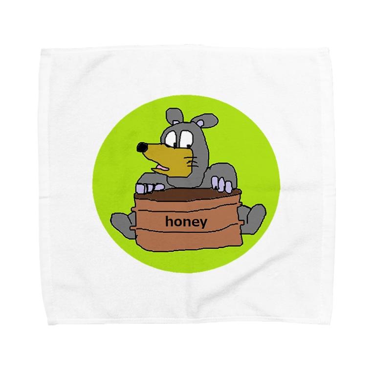アメリカンベースのはらぺこクマ Towel handkerchiefs