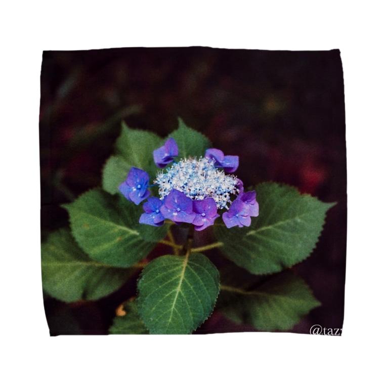 tazzberry.japanの雨の紫陽花2 Towel handkerchiefs