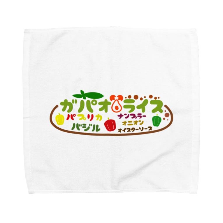 mojimojiのフード屋さんの『ガパオライス』 Towel handkerchiefs