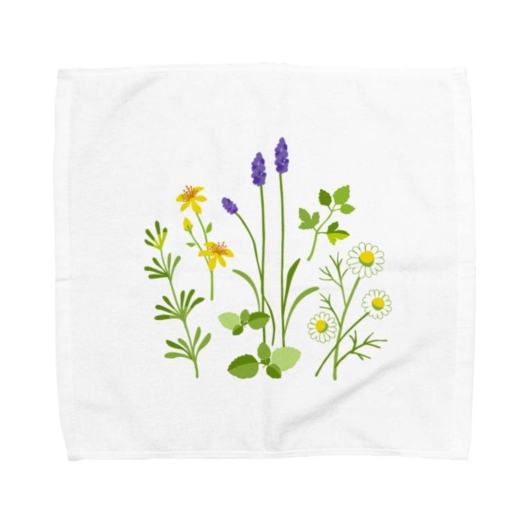 ypocketのハーブの図鑑 Towel handkerchiefs