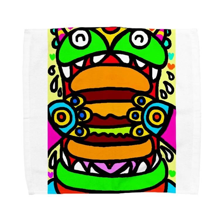 dorihopuのおっきいバーガー食べちゃうぞ Towel handkerchiefs