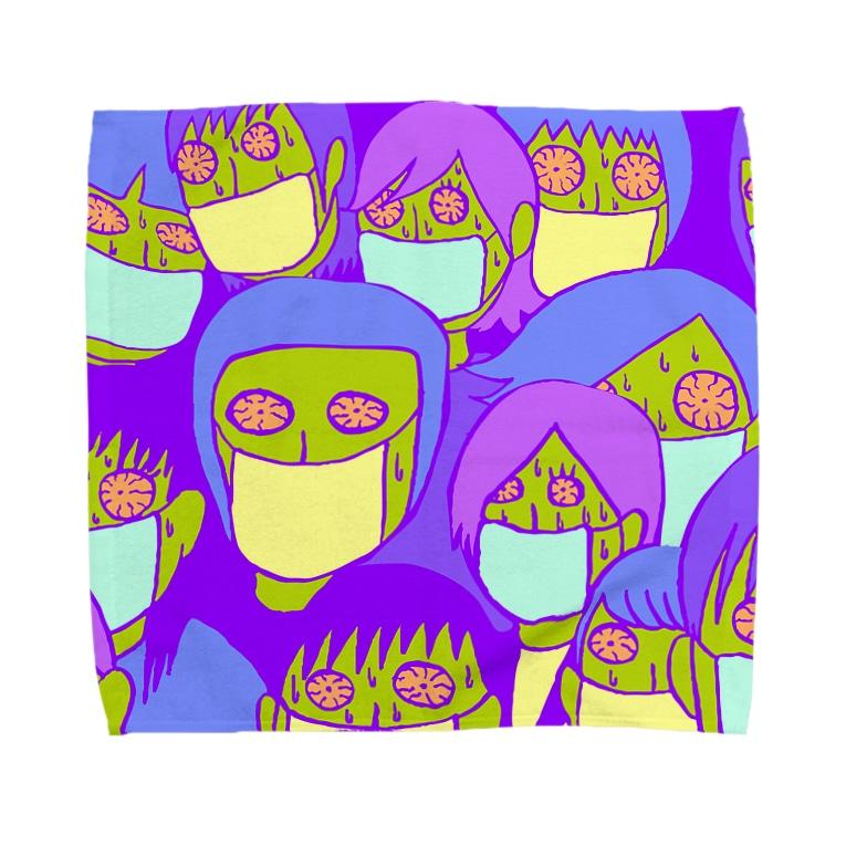 Kanoko Miimiのマスクをする人たち Towel handkerchiefs