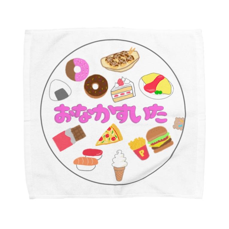 食いしん坊ママの腹ペコクマちゃん Towel handkerchiefs