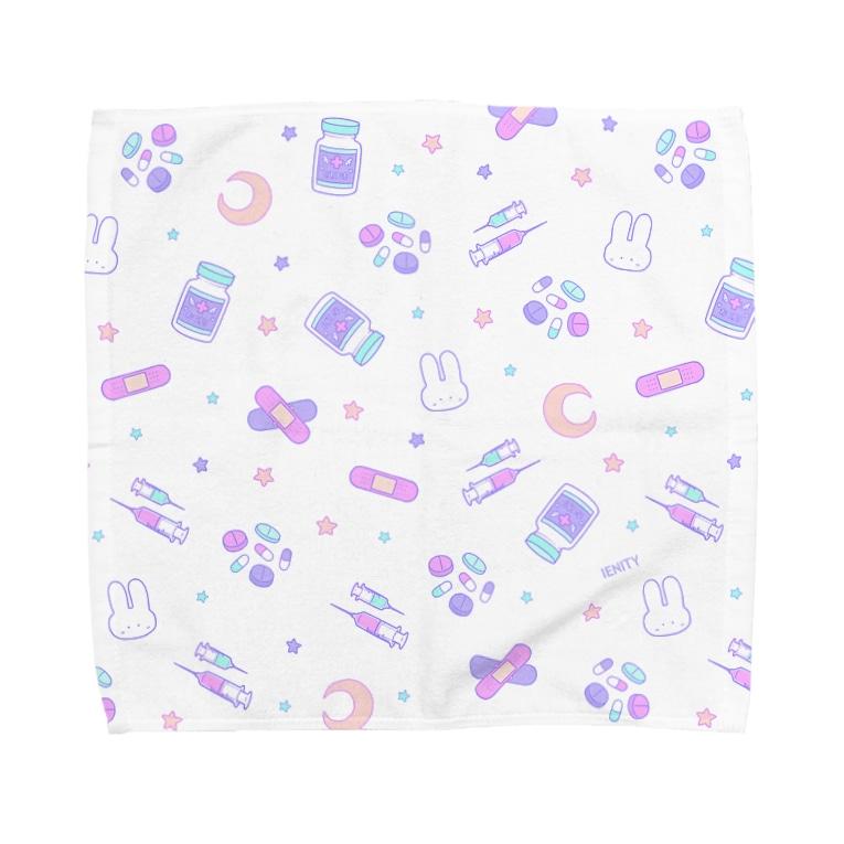 IENITY / MOON SIDEのYamikawaii Syndrome フルグラフィック #Purple Towel handkerchiefs