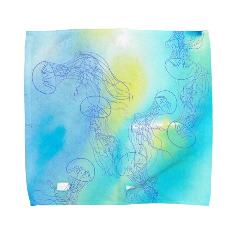 ばすてのギヤマンハナクラゲ Towel handkerchiefs