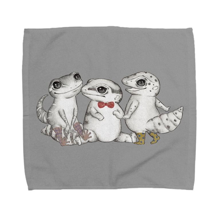 MIKAERUのReptiles MIKAERU Towel handkerchiefs
