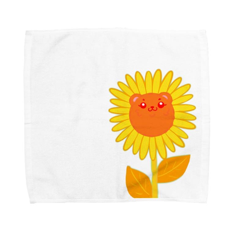 からっぽのオーブンのひまわりポメ Towel handkerchiefs