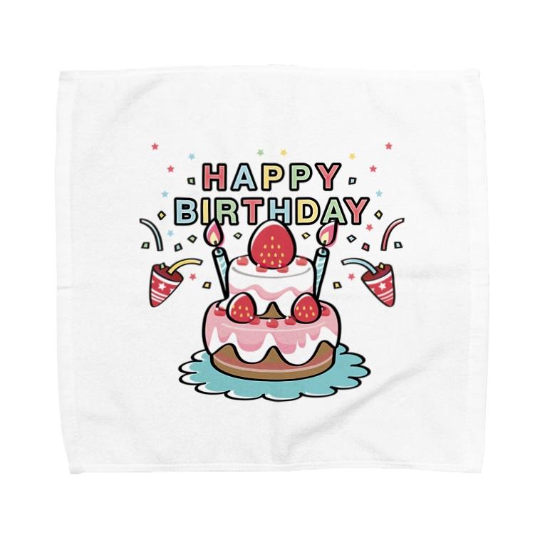 *suzuriDeMonyaa.tag*のCT61HAPPY BRITHDAY  Towel handkerchiefs