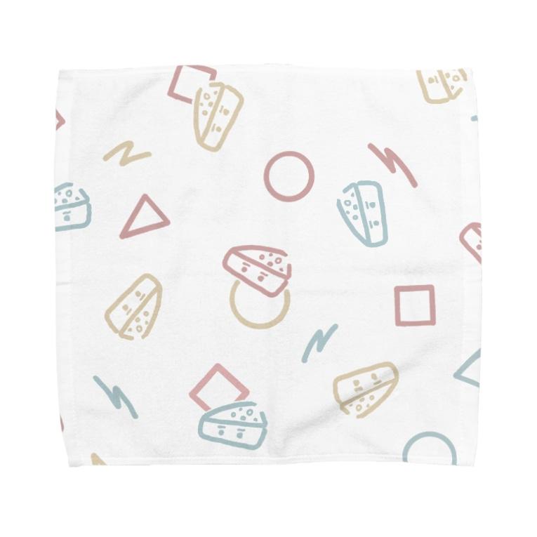 まろやか堂のレトロがんづきくん Towel handkerchiefs